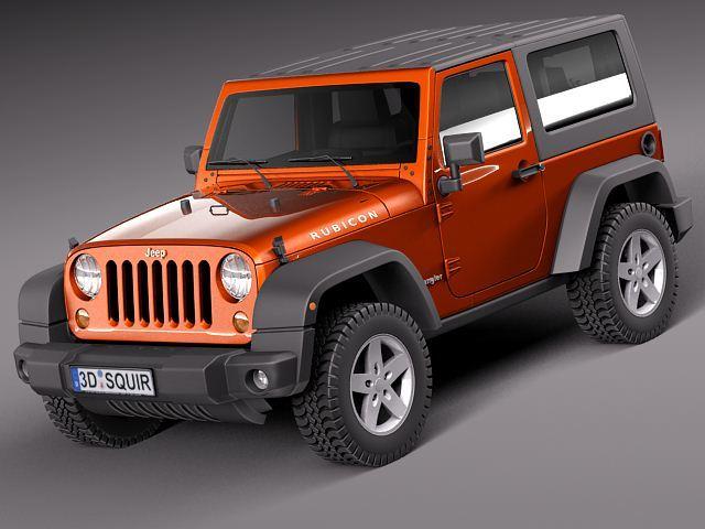 jeep wrangler rubicon 2012 3d model 3d model max obj mtl 3ds fbx c4d lwo lw lws 1