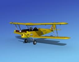 Dehavilland DH82 Tiger Moth RAAF 3D Model