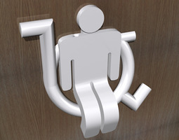 ToiletRoom Sign - Accessible 3D Model