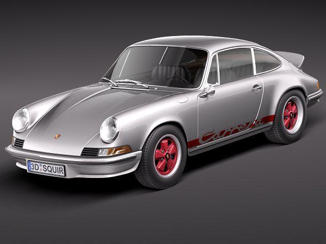porsche 911 carrera rs 1973 3d model max obj mtl 3ds fbx c4d lwo lw lws 1