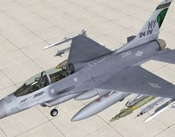 F16-D Fighting Falcon 174FW 3D Model