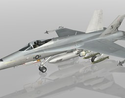 F18C Hornet - US Navy VFA113 Stinger 3D Model