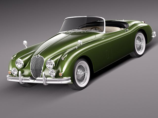 Jaguar XK150 roadster 1957 - 1961 3D Model