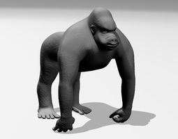 Gorilla 3D printable model