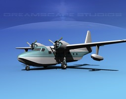 3D Grumman G-73 Mallard V24