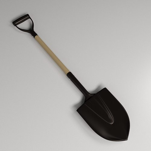 3d shovel cgtrader for Gardening tools 3d model