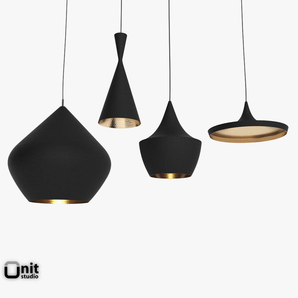Hanging Ceiling Light 3d Autocad Model: 3D Model Beat Light Set By Tom Dixon