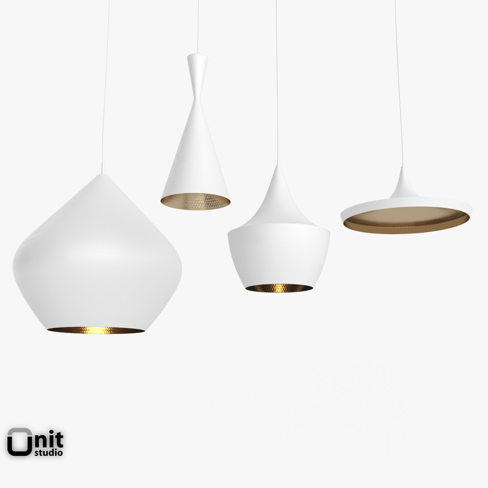 Beat light set by tom dixon 3d model max obj 3ds fbx dwg Tom dixon lighting