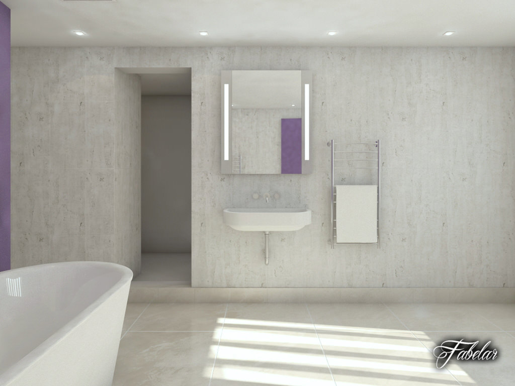 Bathroom 36 3d model max obj 3ds fbx c4d dae for Bathroom models images