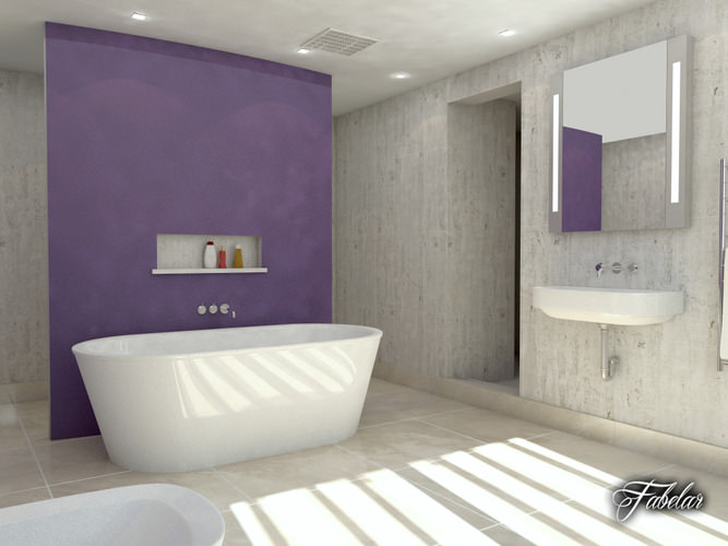 Bathroom 36 3d model max obj 3ds fbx c4d dae for Model bathrooms photos