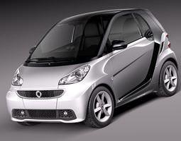 Smart 42 fortwo 2013 3D Model