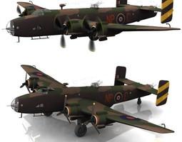Handley Page Halifax BIII Poser Vue 3D model