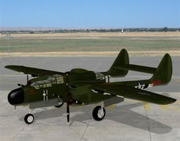 Northrop P 61A Poser Vue 3D