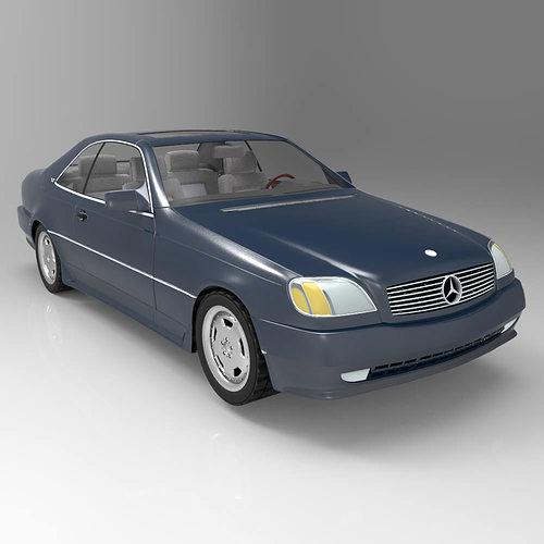 Mercedes S600 Studio Max Obj 3D Model