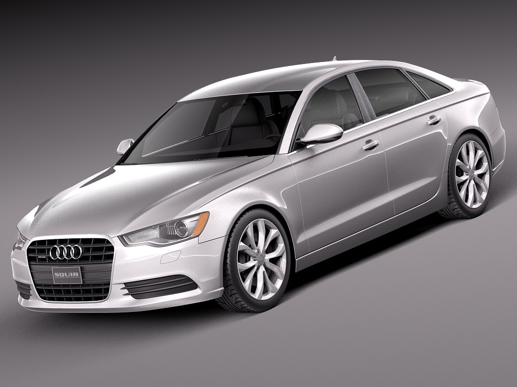audi a6 sedan usa 2014 3d model  max  obj  3ds  fbx  c4d  lwo  lw  lws