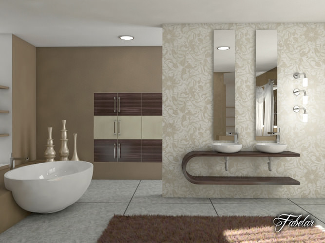 Bathroom 37 3d model max obj 3ds fbx c4d dae for Bathroom models photos