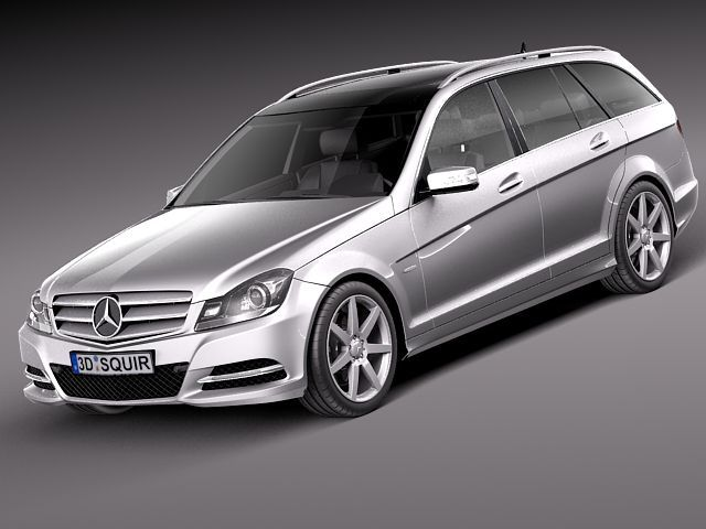 Mercedes benz c class estate 2012 3d model 3d model max for Mercedes benz c class models