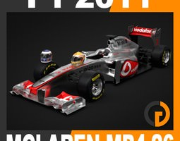 F1 2011 McLaren MP4-26 - Vodafone Mercedes 3D Model