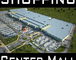 retail store mall m1 full textured scene render ready 3d model