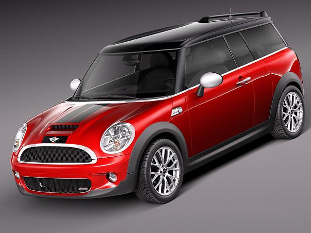 Mini Cooper Clubman John Cooper Works 2009... 3D Model