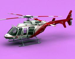 Bell 407 Canadian Ministry of Transport  3D Model