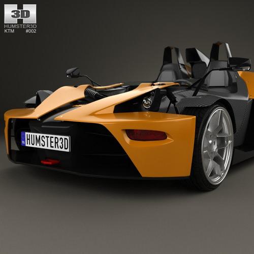 KTM X-Bow 2012 3D Model .max .obj .3ds .fbx .c4d .lwo .lw