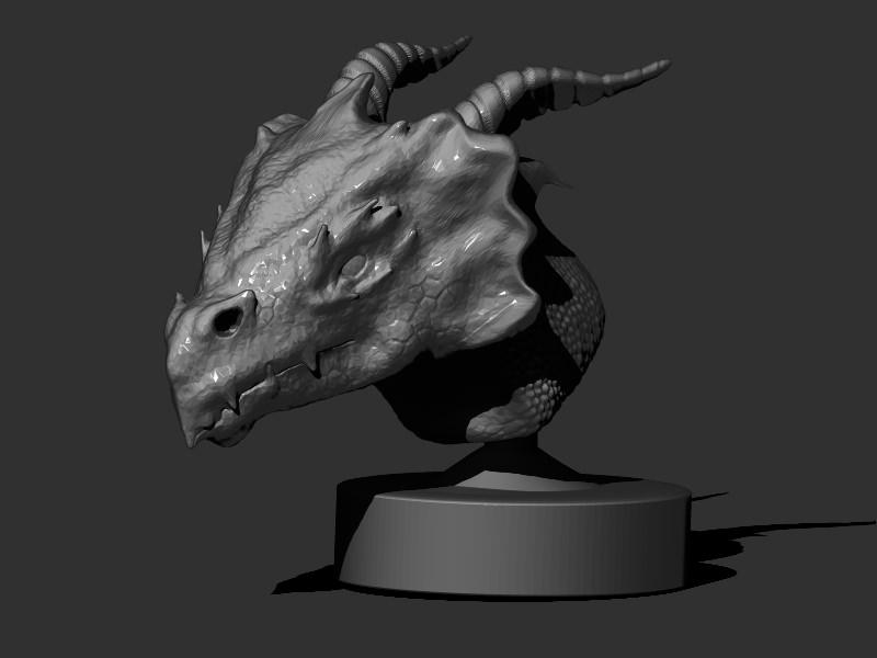 Dragon Head 3D Print Model CGTrader