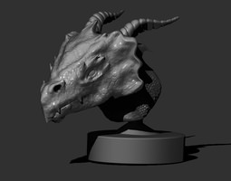 Grid_dragon_head_3d_model_obj_stl_ztl_f9d75401-4dcb-4650-b089-fc2faab3358f