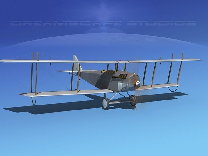 curtiss jn-2 jenny bare metal 3d model animated max obj mtl 3ds lwo lw lws dxf stl 1
