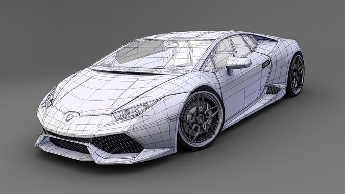 Lamborghini Huracan LP 610-4 3D Model .obj .3ds .fbx .lwo ...