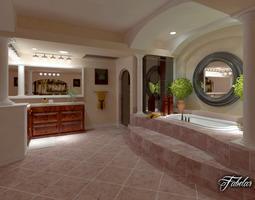 3D Bathroom textured