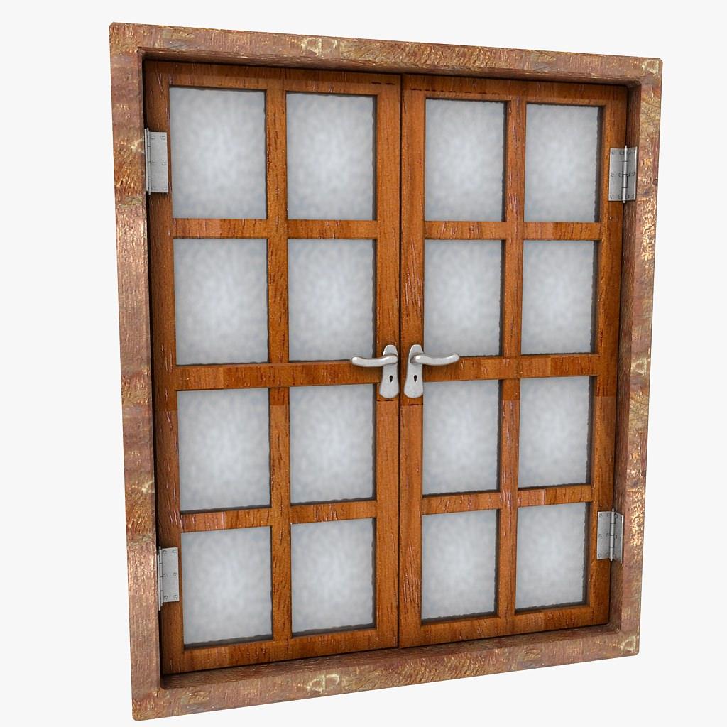 wooden window shutter frame sill ledge parapet 3d models. Black Bedroom Furniture Sets. Home Design Ideas