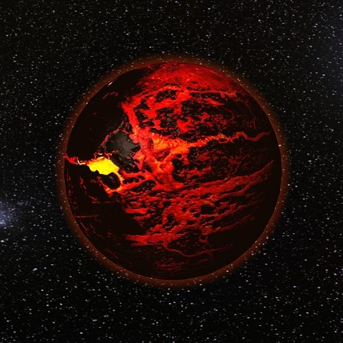 lava planet 3d model low-poly max obj mtl 3ds fbx c4d 1