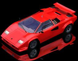 3D Lamborghini Countach Poser Vue
