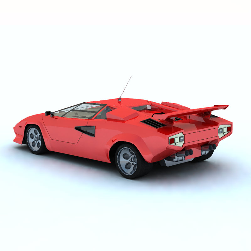 lamborghini countach poser vue 3d model rigged vue pz3 pp2. Black Bedroom Furniture Sets. Home Design Ideas