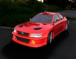 car subaru car car for 3d gaming 3D Model
