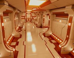 polyguardian cruiser corridor 3d model