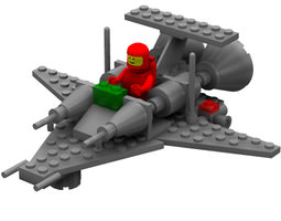 Modular Brick Mini Spaceship 3 Poser 3D model