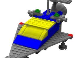 modular brick starship 924 poser 3d model rigged