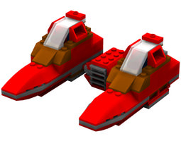 Modular Brick Twin Pod Cloud Car Poser 3D