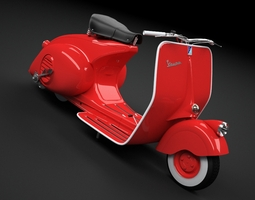 Scooter Vespa 98 1946 3D Model