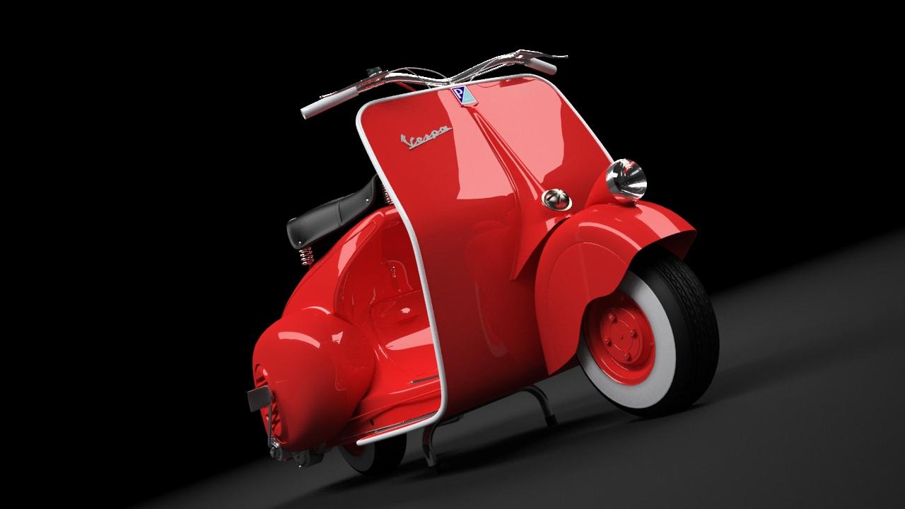 Scooter Vespa 98 1946 3D Model max CGTradercom