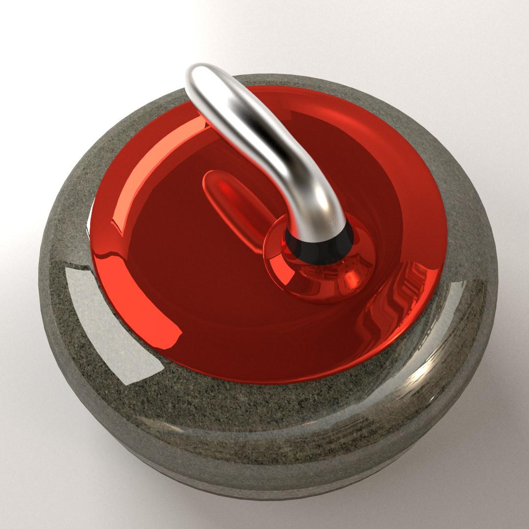 Curling Stone 3D Model 3DS FBX BLEND DAE | CGTrader.com