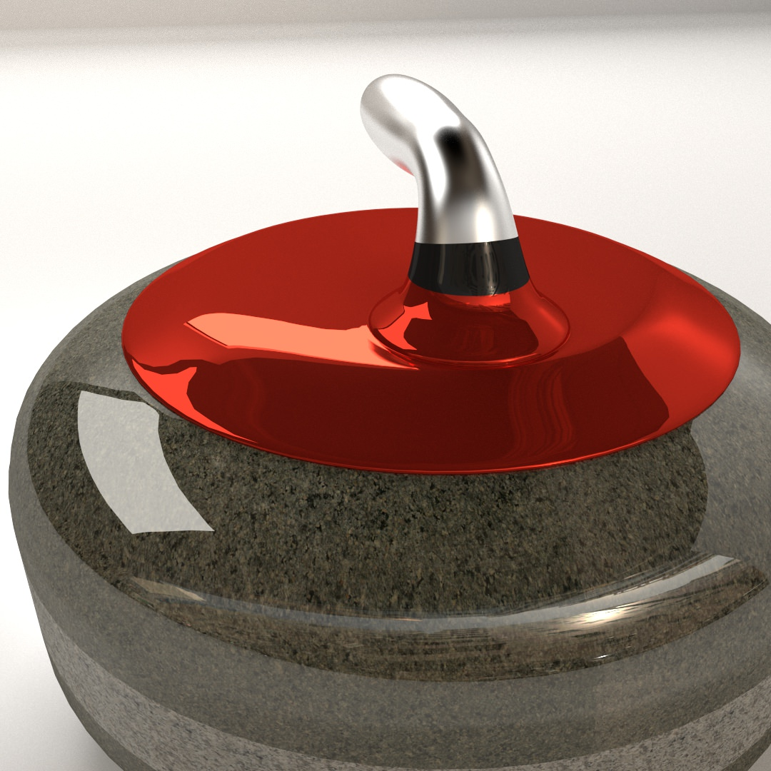 Curling Stone 3D Model .3ds .fbx .blend .dae - CGTrader.com on Granite Models  id=61867