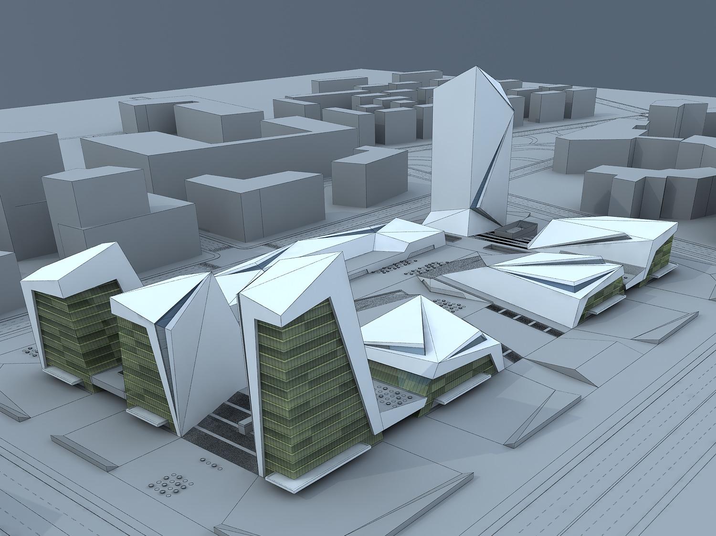 City building 3d model max for 3d max building