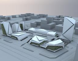 3D model scenes city building