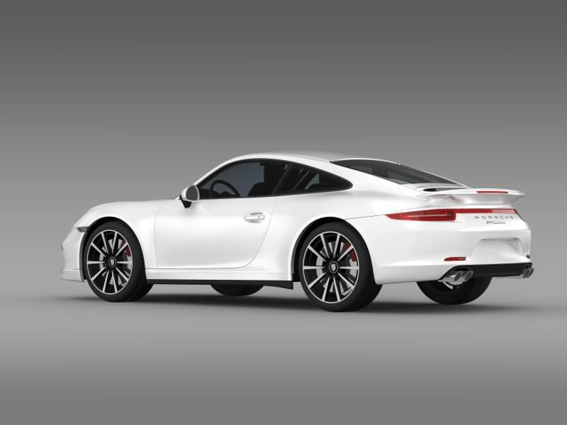 porsche 911 carrera 4s aerokit cup 3d model max obj 3ds fbx c4d lwo lw lws