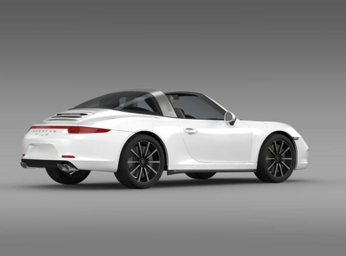 porsche 911 targa 4s 2014 3d model max obj 3ds fbx c4d lwo lw lws. Black Bedroom Furniture Sets. Home Design Ideas
