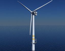 Wind Turbine Offshore 3D model