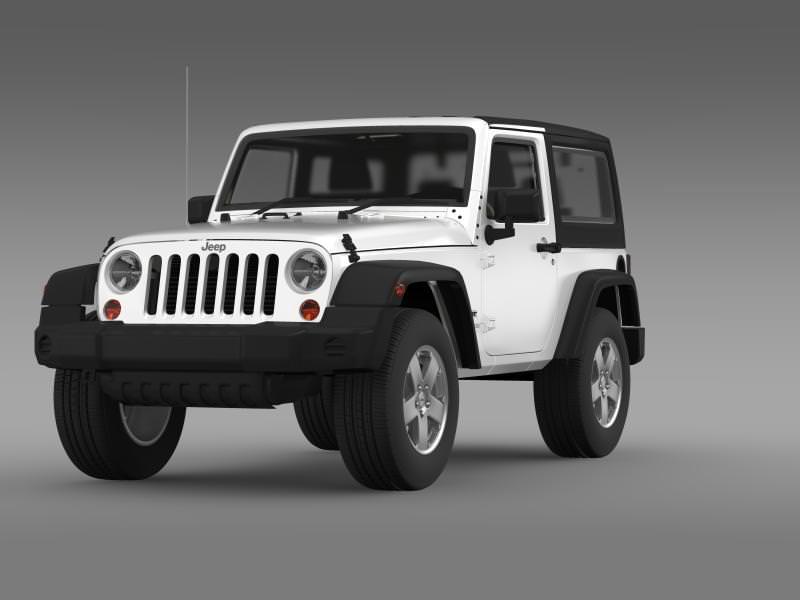 Jeep Wrangler UK Sport 2008 3D Model .max .obj .3ds .fbx .c4d .lwo ...